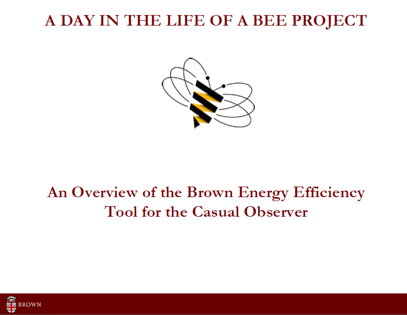 2011 brownu bee intro